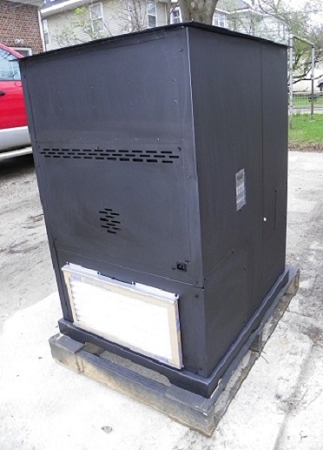 Forced-Air II (Two) Corn Wood Pellet Multifuel Furnace Stove