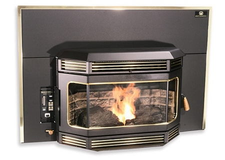 Fireplace Insert Continous Bay Window Wood Pellet