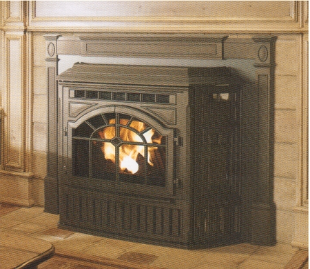 Fireplace Insert Colonial Cast Iron Corn Stove 60 000b