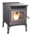 LITTLE BUDDY WOOD PELLET STOVE, LOW COST EASY to OPERATE
