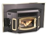 FIREPLACE INSERT 3 BAY-WINDOW Wood Pellet 50,000 BTU/Hr