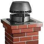 CHIMNEY FAN EXHAUST BOOSTER  FIREPLACE INSERT CORN WOOD