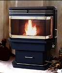 BAY WINDOW MODEL I (ONE) CORN WOOD PELLET STOVE, Multi-fuel Capable