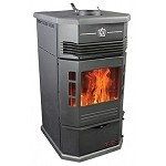 AMISH GRAVITY DROP Wood Pellet Stove Furnace,40,000 BTU, 80lb Hoppr